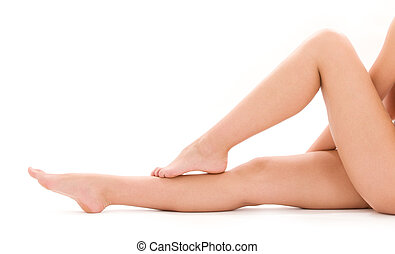 건강한, 아름다운 여성, 다리