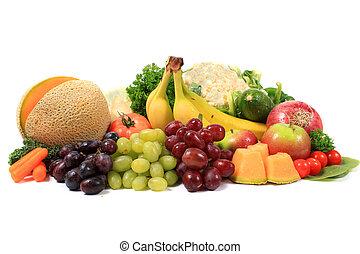 건강한, 야채, 과일