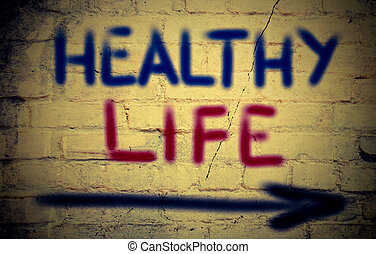 건강한, 인생, 개념