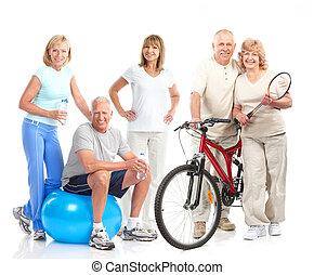건강한, 적당, 체조, 생활 양식
