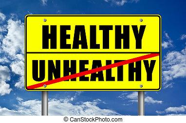 건강한, verus, 건강하지 못한 생활