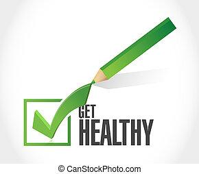 건강해져라, 삽화, 표, 디자인, 수표