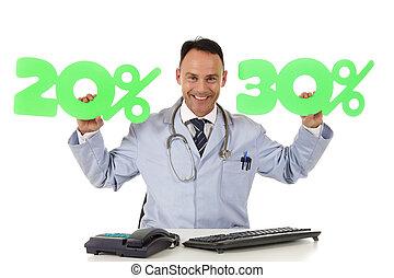 건강 관리, 통하고 있는, 판매, 20, %, 와..., 30, %