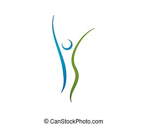 건강 관리, logo., 자연, 로고, 서명해라.
