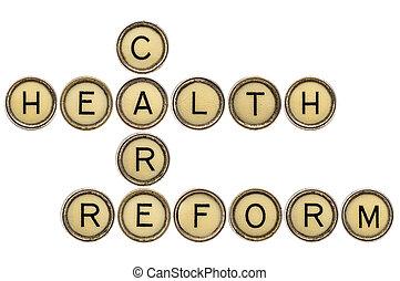 건강 관리, reform, 크로스워드퍼즐