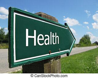 건강, 도로 표지