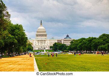 건물, 결합되는, 국회 의사당, dc, 상태, 워싱톤