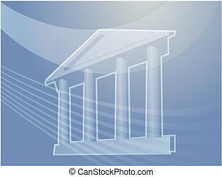 건물, 기둥, 삽화, 웅대한