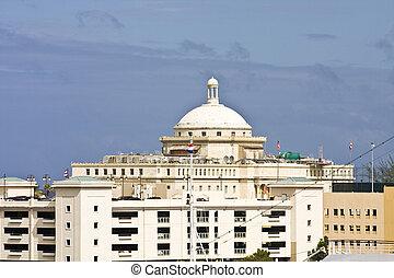건물, 둥근 지붕으로 덮은, 정부