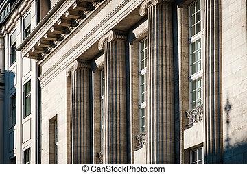 건물, 란, 정면, 외부, -, 역사의