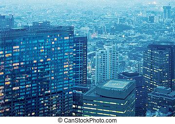 건물, 비어 있는, 정부, observator, metroplitan, 도쿄