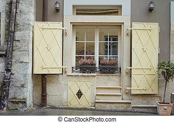 건물, 우크라이나, shutters., 창, 정면, lvov