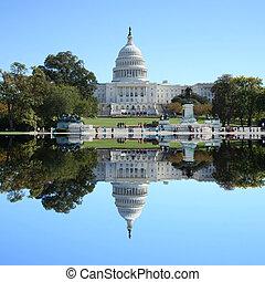 건물, 워싱톤 미 국회의사당, dc