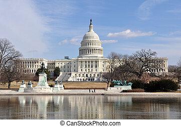 건물, 워싱톤, 언덕, 국회 의사당, dc