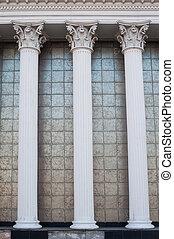 건물 정면, 백색, 란, 건축상이다