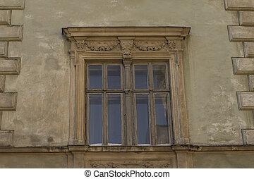 건물 정면, 창문