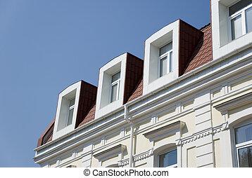 건물 정면, attics.