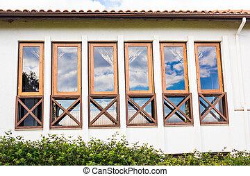건물 정면, windows.
