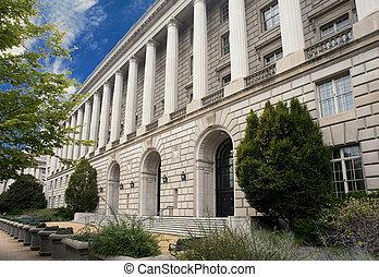 건물, dc., irs, 워싱톤