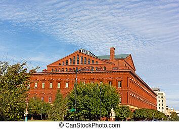 건물, dc, usa., 박물관, 워싱톤, 한 나라를 상징하는
