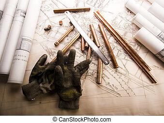 건축술 계획, &, 도구