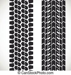 걸어라, 패턴, tyre.