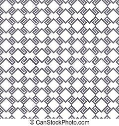 검정과 백색, 기하학이다, 뒤얽힌, seamless, 패턴
