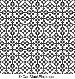 검정과 백색, 기하학이다, seamless, 패턴