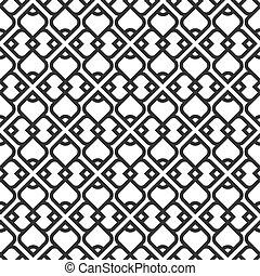 검정과 백색, 이슬람교, seamless, 패턴