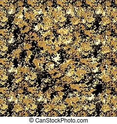 검정, 금, grunge, 직물, seamless, pattern., 푸른 녹, 요행으로 맞은, 황금, elements., 유행, 현대, 배경, decoration., 벡터, 삽화