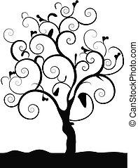 검정, 나무