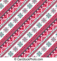 겨울, 휴일, seamless, 패턴