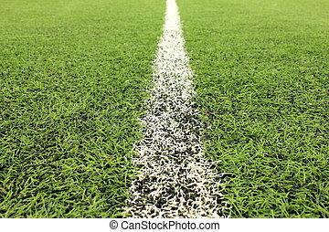 경기장, 녹색, 인조의, 잔디, 들판, 배경