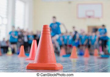 경쟁, 에서, 그만큼, 스포츠 홀