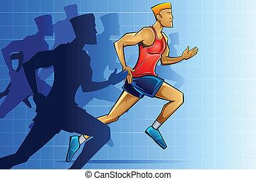 경주자, 마라톤