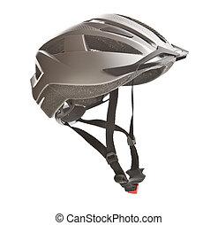 경질인, 자전거, helmet.