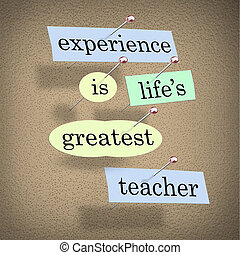 경험, life's, 가장 크다, 선생님, -, 살고 있다, 치고는, 교육