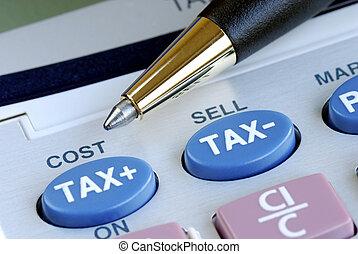 계산기, 비용, 세금, 계산해라