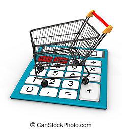 계산기, 2, 쇼핑 카트