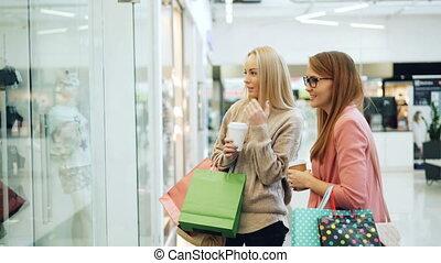 고객, 쇼핑, 간담, 뾰족하게 함, 사람, concept., 소녀, 근심이 없는, 수집, 실소., 말하는 것...