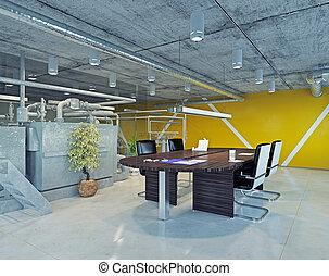 고미 다락, 위층 관람석, 사무실