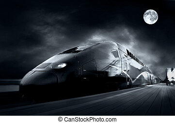 고속 기차, 와, 모션 더러움, 옥외