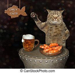 고양이, 은 마신다, 맥주, 에서, 그만큼, 막대기