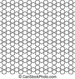 고운, seamless, 패턴, 에서, 이슬람교, 스타일, 와, 은 주연시킨다