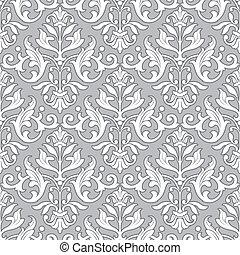 고전, 패턴, 벽지, -, seamless, 꽃의
