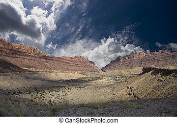 골짜기, 사막