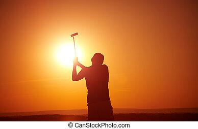 골프를 치는 사람