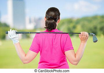 골프 코스, 밀려서, 장비, 배경, 운동선수, 노는 것