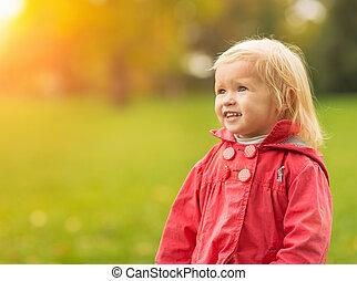 공간, 복합어를 이루어 ...으로 보이는 사람, 아기, 초상, 사본, 행복하다