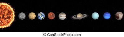 공간, nasa., 이것, 심상, sun., 태양의, 밖이다, 성분, 체계, 행성, concept., 공급된다, 행성이다